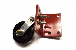 "3-1/2"" Pulley with Red Mounting Bracket"